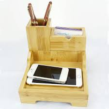 the ideal office supplies business cards pens mobile phone notebook is indispensable to the desktop decoration storage box building bamboo furniture
