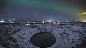 İzlanda'daki kuzey ışıkları büyüledi