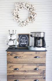 modern farmhouse kitchen makeover reveal built coffee bar makeover
