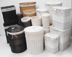 white storage unit wicker: awesome white wicker bathroom storage  white wicker storage baskets