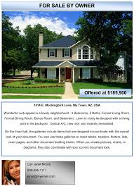 real estate flyer templates word examples of advertising it