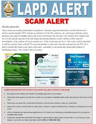 lapd crime prevention alert beware of scams using greendot lapd alert moneypak final 1