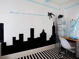 Wall  Minimalist Teenage Bedroom Design Ideas - Bedroom wall murals ideas
