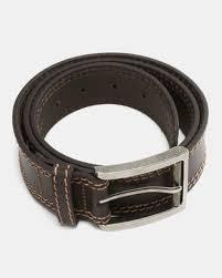 Saddler Belts <b>Full</b> Grain <b>Genuine Leather Mens</b> Belt Dark Brown ...