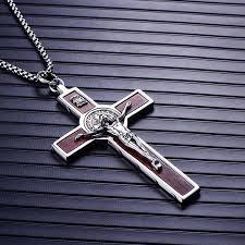 Cross <b>Necklaces</b> Men <b>316L</b> Stainless Steel Vintage CSPB ... - Joom