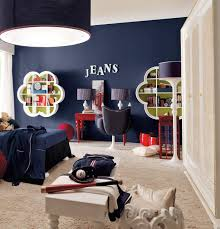 kids room vintage white and blue kids furniture wall