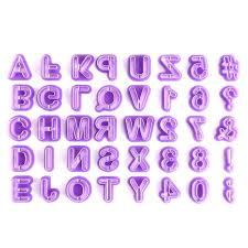 40PCS <b>Alphabets 26 English Letters</b> Plastic <b>Cookie</b> Mold Cutter ...