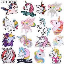 <b>ZOTOONE</b> Animal <b>Unicorn</b> Iron on Patches for Clothing Stickers DIY ...