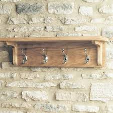 mobel solid oak wall shelf with hooks coat rack baumhaus space baumhaus mobel solid oak extra