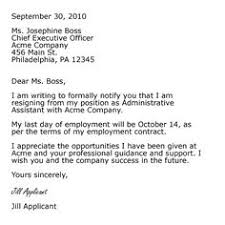 two weeks notice resignation letter and letters  sample professional letter formats
