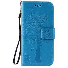 Cmeka 3D Cat Tree Flower <b>Butterfly Wallet Case</b> for iPhone 6 ...