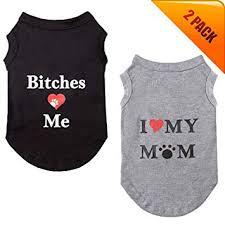 KOOLTAIL Dog T Shirts Pet Summer Vests I Love My ... - Amazon.com