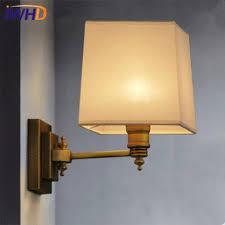<b>IWHD Nordic LED</b> Wall Lamp Brass <b>Copper</b> Wall Lights Fabric ...