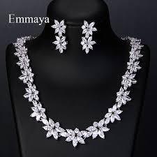 Emmaya <b>Elegant Luxury</b> White AAA Zircon Crystal Flowers Pretty ...