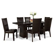 furniture paradisio dining room chair paragon table and  chairs merlot and brown