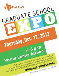 pre law fair and graduate school expo utd career center bits 2013 graduateexpoflyer