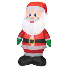 "Outdoor <b>Airblown Inflatable Decoration</b> - <b>LED</b> - 48"" - Santa Claus ..."