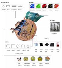 <b>Cheap custom</b> metal 3D <b>medals</b> with ribbon made in china, View ...