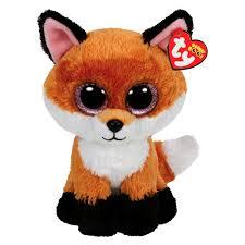 Мягкая <b>игрушка Лисенок Slick</b> TY Beanie Boo's 15 см (36159 ...