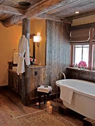 country themed reclaimed wood bathroom storage:  ci rustic elegance rustic bathroom with soak tub pg xjpgrendhgtvcom