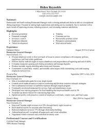 unforgettable restaurant manager resume examples to stand out    restaurant manager resume sample