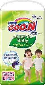 <b>Подгузники</b>-<b>трусики GOO</b>.<b>N Cheerful</b> Baby, 853460, размер L, 8 ...