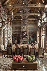 cabin style bedroom tree branch