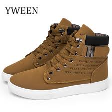 <b>YWEEN</b> New <b>Men's Casual Shoes</b> High Top Autumn Winter Lace up ...