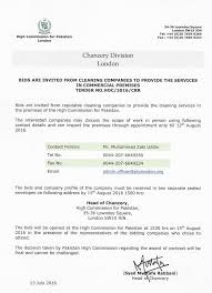 high commission for london bids are invited from cleaning companies to provide the services in commercial premises updated 14 2016