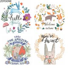 <b>ZOTOONE Flower</b> Animals Patches for Clothing DIY Heat Transfers ...