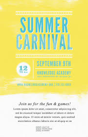 summer carnival flyer template psd docx the flyer press a summer carnival flyer template featuring a watercolor background available as a word flyer template