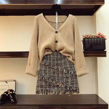 knit two piece skirt