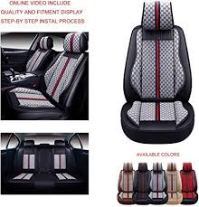 Oasis Auto OS-007 Leather&Cloth <b>Universal Car Seat Covers</b>