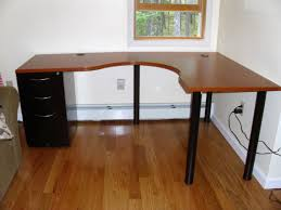 engaging design ikea l shaped desk ideas shaped wood desks home