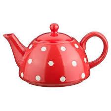 <b>Заварочный чайник</b> 1000 мл. <b>горошек</b> белый на красном 470-291 ...