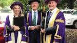 Veteran journalist honoured at university's celebration