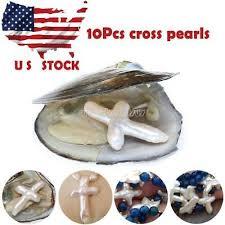 New <b>10Pcs</b> Akoya Freshwater Oysters with Cross <b>Shape Pearl</b> US ...