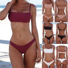 <b>Swimwear</b> Bathing <b>Bikini Set Padded</b> Bandage Bra Push-up Suit ...