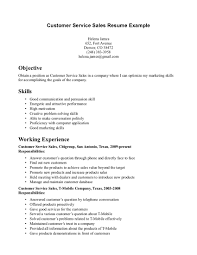 resume examples  examples of customer service resumes customer        resume examples  customer service sales resume example for objective with working experience and skills
