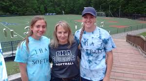 high school softball players their parents and coaches a look taylor kenerson far right her mom lisa and iha pitcher olivia sprofera