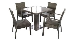 chunky dining table and chairs great reasons of using rattan dining table