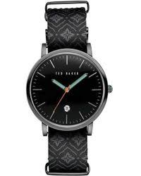 men s watches shop designer watches lyst ted baker leather strap watch lyst