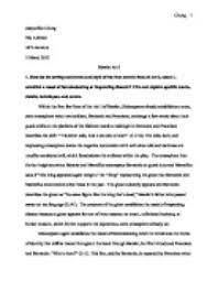 hamlet essay ideas