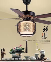 Retro <b>white LED</b> lights chandelier fan <b>Minimalist</b> living room ...