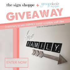 winners will win a family scrabble metal wall sign us win a family scrabble metal wall signs from the sign shoppe