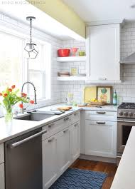 kitchen shelves instead of cabinets kitchen makeover reveal before and after kitchen renovation with white