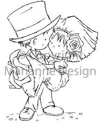 Marianne <b>Design</b> - Clear Stamp - Don & <b>Daisy</b> - Just Married ...