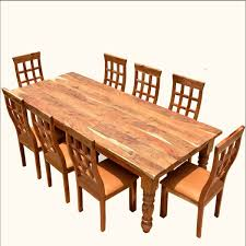 chair dining room tables rustic chairs: rustic furniture farmhouse solid wood dining table chair set