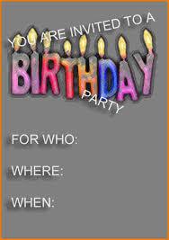birthday invitation template receipt templates birthday party invitation template
