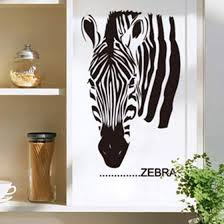New Fashion Zebra Vinyl <b>Wall</b> Decal <b>African</b> Animal Zebra Head ...